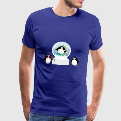 Snow Globe jul - Premium-T-shirt herr