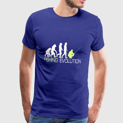 Evolution - Fiske T-skjorte for sportsfiskere gave - Premium T-skjorte for menn