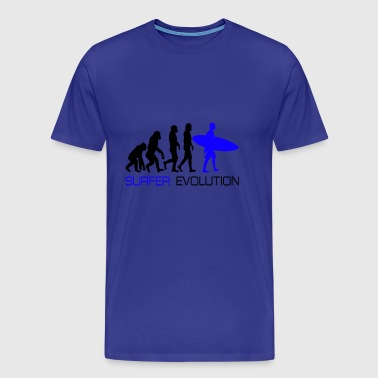 Cool Evolution Surfer Surf Shirt Gift - Men's Premium T-Shirt
