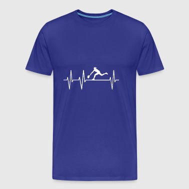Tennis Heartbeat Heart Pulse Heartbeat Player - Men's Premium T-Shirt