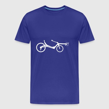 Recumbent x white - Men's Premium T-Shirt