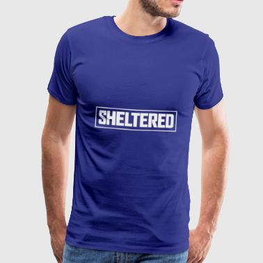 Sheltered Logo Simple White - Men's Premium T-Shirt