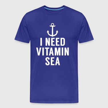 Ich brauche Vitamin Meer. Anchor.Coastal Gifts.Holiday - Männer Premium T-Shirt