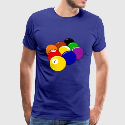 pool billards billiards snooker queue ball sport3 - Men's Premium T-Shirt