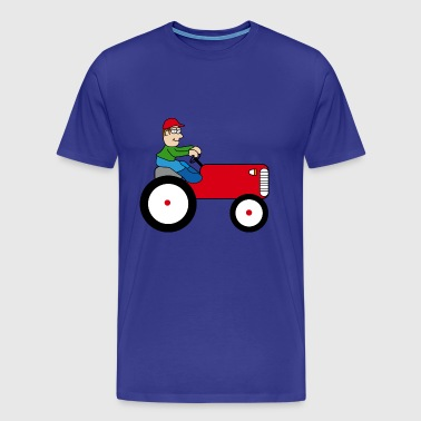 Tractor | Towing truck Trecker | Bulldog | farmer - Men's Premium T-Shirt