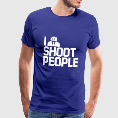 I shoot people. Photographers gifts. Camera Man. - Men's Premium T-Shirt