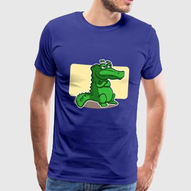 Crocodile thinking - Men's Premium T-Shirt