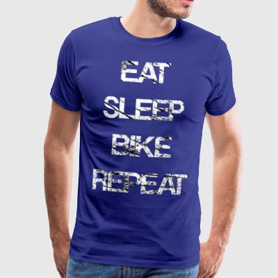 eat sleep bike repeat printused look - Men's Premium T-Shirt