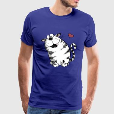 Chat avec grand coeur - Chat - Chats - Chats - Animal - T-shirt Premium Homme