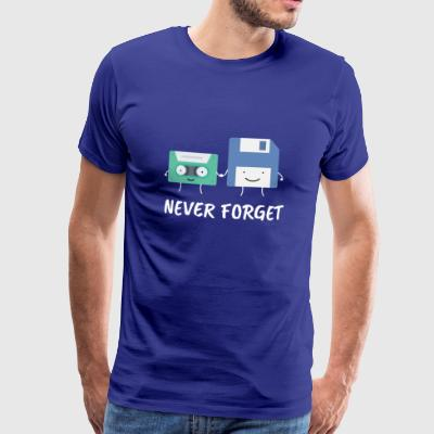 Never Forget! - Premium T-skjorte for menn
