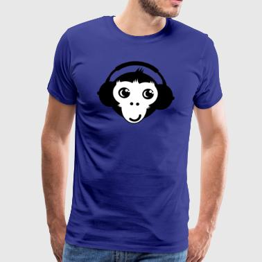 Monkey Headset - Herre premium T-shirt