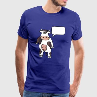 Cow + wish text Your text Cows Dairy farmers - Men's Premium T-Shirt