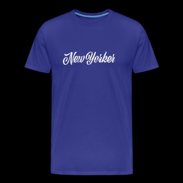New Yorker Belettering Eroded Retro - Mannen Premium T-shirt