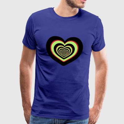 CŒUR MULTICOLORE - Men's Premium T-Shirt