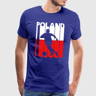 Vintage Football Club. Poland. Polish Flag.Sports - Men's Premium T-Shirt