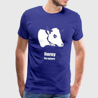 horny by nature - Men's Premium T-Shirt