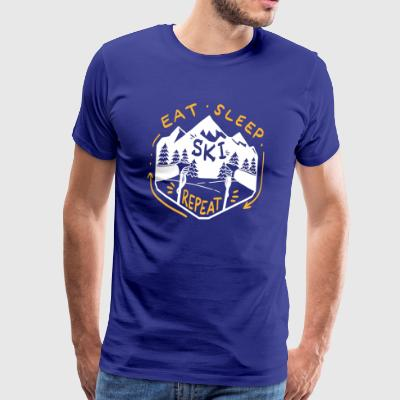 Eating Sleeping Ski Skiing Skier Gift - Men's Premium T-Shirt