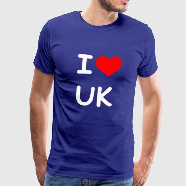 I love UK UK - Men's Premium T-Shirt