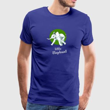 little_elefant baby cute mascotte vriend ju - Mannen Premium T-shirt