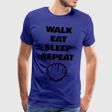 Walk Eat Sleep Repeat - Männer Premium T-Shirt