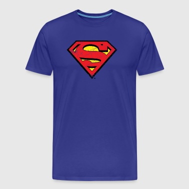 DC Comics Superman Logo Look Usé - T-shirt Premium Homme