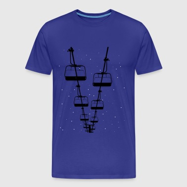 Ski lift snowboard Ski skiing Winter gift - Men's Premium T-Shirt