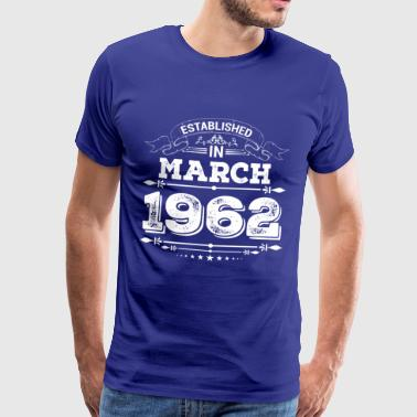 Established in March 1962 - Männer Premium T-Shirt