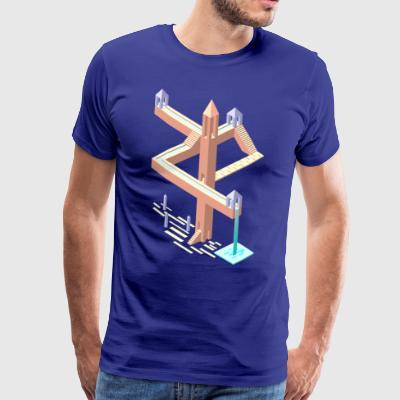 Monument Valley tribute - Mannen Premium T-shirt