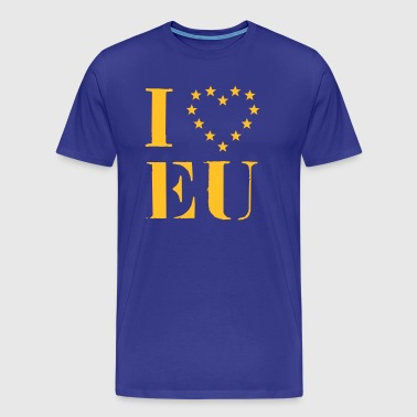 EU, Europe, heart, I love, Star, flag, flag - Men's Premium T-Shirt