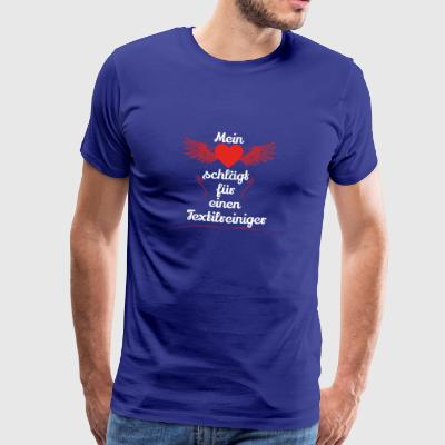 gift heart beats girlfriend textile cleaner - Men's Premium T-Shirt