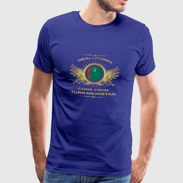 Legends born gift home in Turkmenistan - Men's Premium T-Shirt