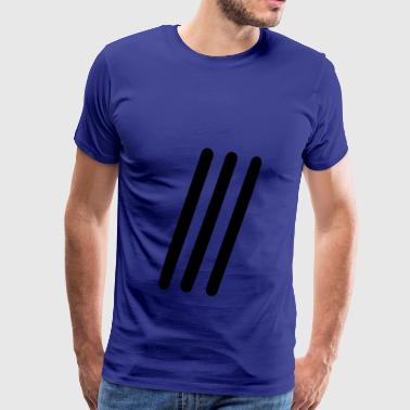 Three lines - Men's Premium T-Shirt