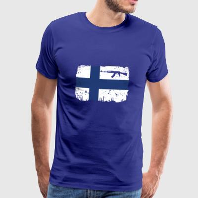homeland fight ak 47 home roots Finland png - Men's Premium T-Shirt