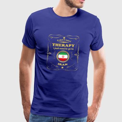 DON T NEED THERAPY GO TO IRAN - Men's Premium T-Shirt