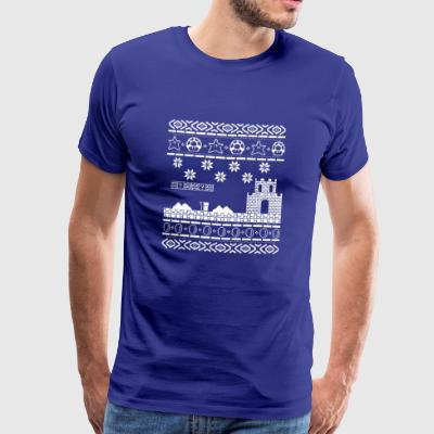 Ugly Christmas Sweater Oldskool Gaming Zocker Gift - Männer Premium T-Shirt