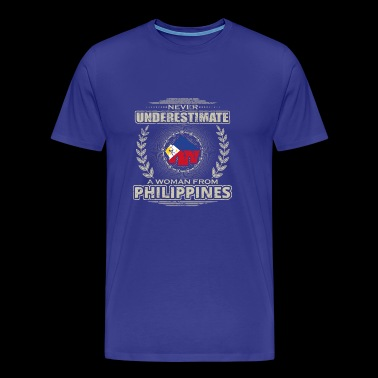 Never Underestimate Girl Woman PHILIPPINES png - Men's Premium T-Shirt