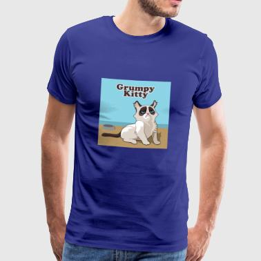 grumpy kitty cat - Men's Premium T-Shirt