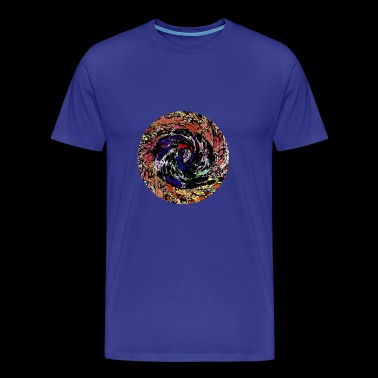 Round design with subtle colors. - Men's Premium T-Shirt