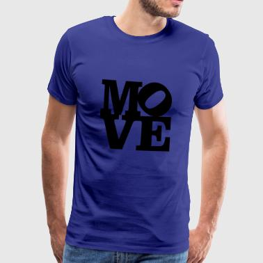 move Homage to Robert Indiana move schwarz innen - Männer Premium T-Shirt