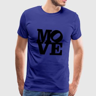 move Homage to Robert Indiana move black inside - Men's Premium T-Shirt