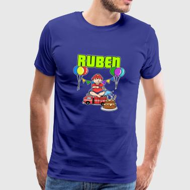 Fire department Ruben gift - Men's Premium T-Shirt
