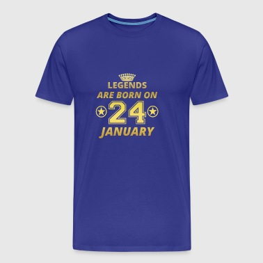 legends born birthday JANUARY 24 - Men's Premium T-Shirt