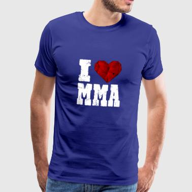 MMA i love spruch heart love love hiking - Men's Premium T-Shirt