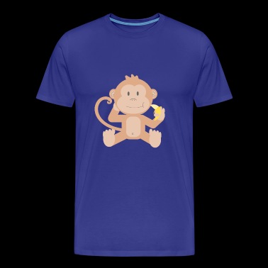 Monkey with banana - Men's Premium T-Shirt