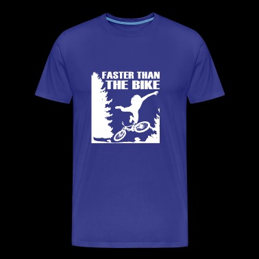 Faster than the bike departure adventure with bike - Men's Premium T-Shirt