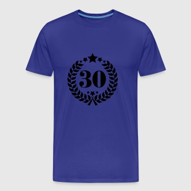 30th Birthday Wreath - Anniversary Wreath - Men's Premium T-Shirt