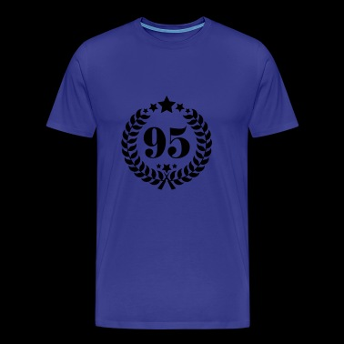 95th birthday wreath number 95 vintage age - Men's Premium T-Shirt