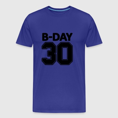 30th birthday number numbers jersey number - Men's Premium T-Shirt