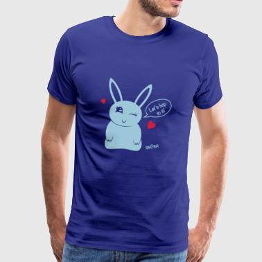Bunny heart blue - Men's Premium T-Shirt