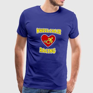 I love Wheelchair Racing - Männer Premium T-Shirt